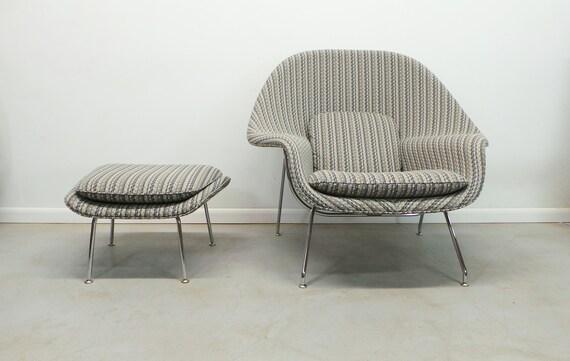 Brilliant Authentic Mid Century Modern Womb Chair Ottoman By Designer Eero Saarinen For Knoll Machost Co Dining Chair Design Ideas Machostcouk