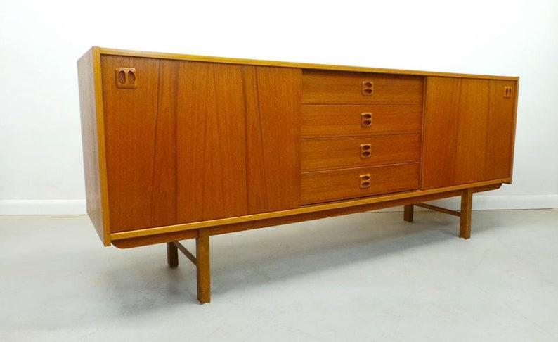 Danish Modern Credenza Sideboard : Mid century danish modern long low teak credenza sideboard etsy