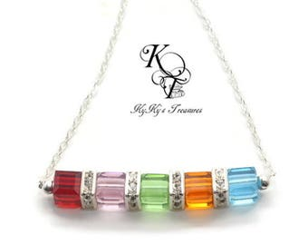 Mothers Jewelry - Mom Necklace - Birthstone Necklace - Grandma Necklace - Sterling Silver Necklace - Grandma Jewelry - Mothers Jewelry