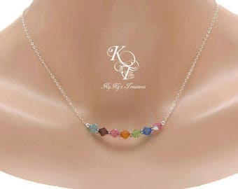 Family Necklace Birthstone Necklace Mothers Jewelry Grandma Birthstone Necklace Birthstone Gifts Birthstone Jewelry, Wife Gifts