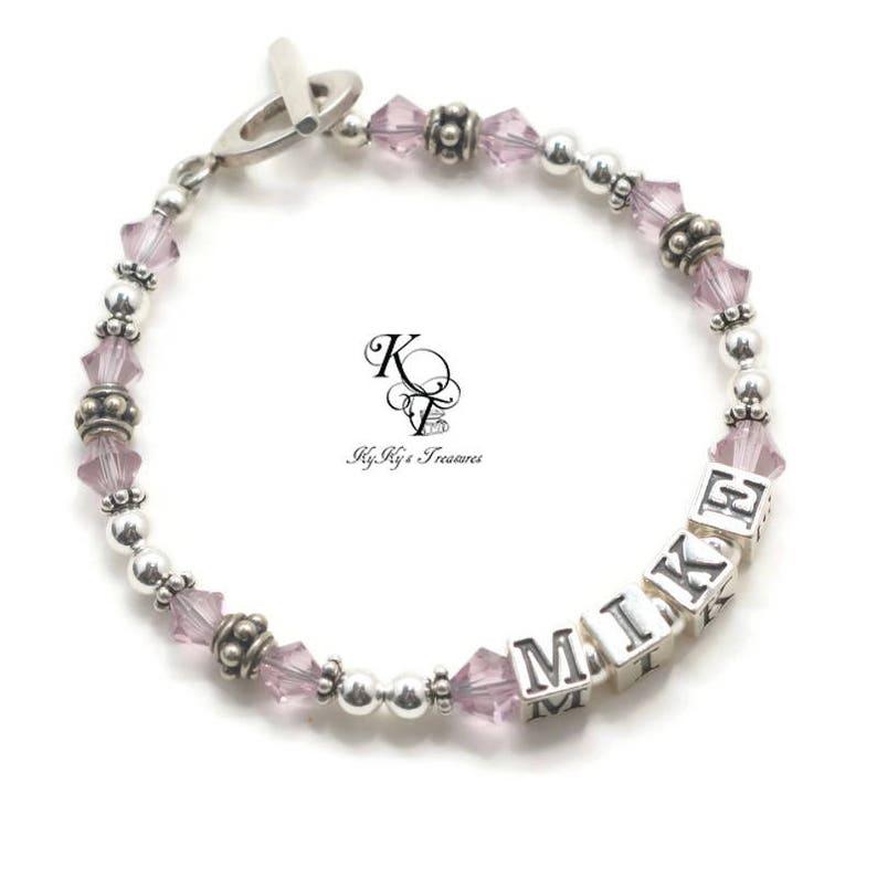 Mothers Jewelry Mother Bracelet with Child Name Mom Christmas Gifts Grandmother Bracelet Name Bracelet Personalized Birthstone Bracelet