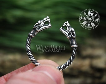 Viking Fenrir Wolf Head Ring - Made of 925 Sterling Silver - US Sizes 6-13 --- Norse/Odin/Wolves/Ragnarok