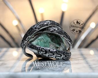Norse Mythology Draupnir Bracelet in Stainless Steel --- Viking/Scandinavian/Arm Ring/Bangle/Silver/Jewelry