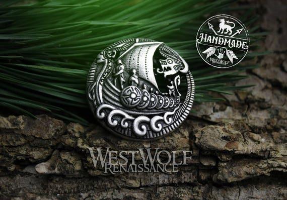 Vikings nordiques Viking Dragon Broche Pin Shirt Lapel Charms Homme Bijoux Décor