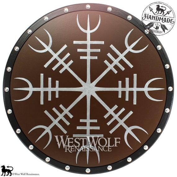 Viking Helm Of Awe Symbol Shield Icelandic Etsy
