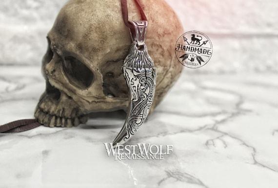Best friend gift Norse jewelry Bronze pendant Dragon pendant Dragon tooth pendant
