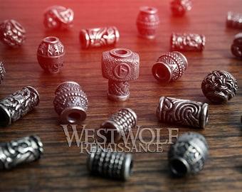 silver hair beads