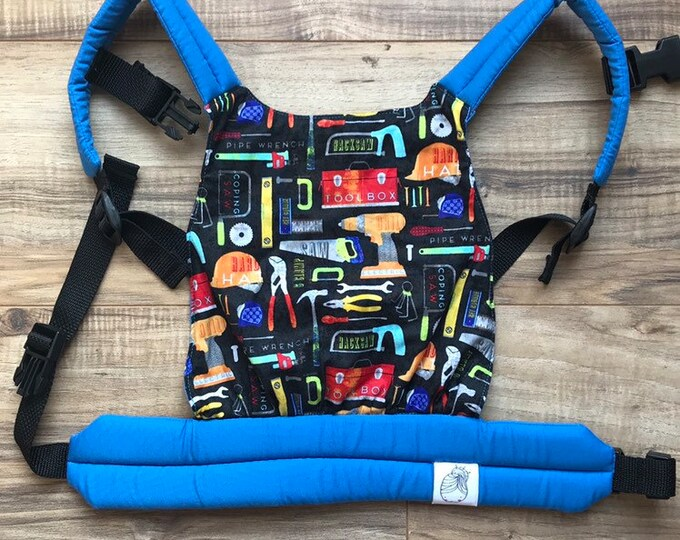 READY-TO-SHIP Blue Tools Baby Doll Carrier