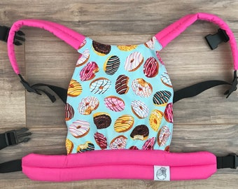 Pink and Blue Donuts Baby Doll Carrier