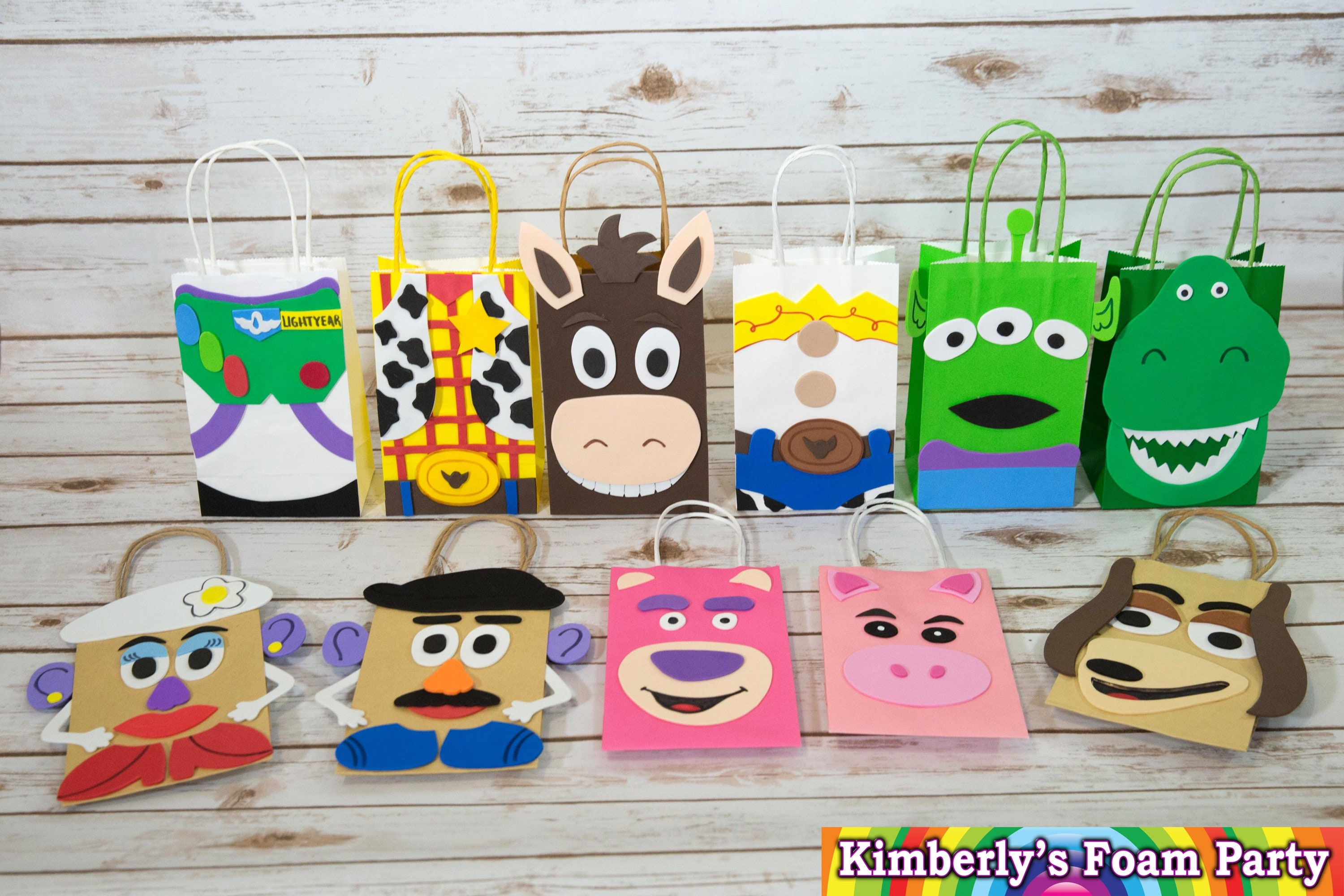 Toy Story Foam Party bags Toy Story birthday Toy Story favor  6ff52d0142e2