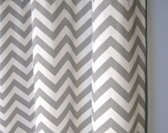 50x84 Grey Zig Zag BLACKOUT Grommet Curtains