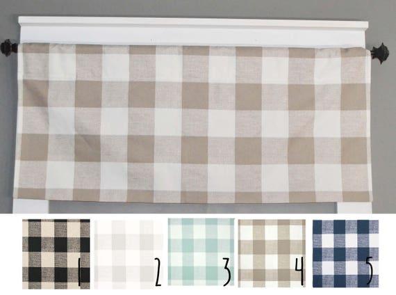 Etonnant Plaid Valance Buffalo Plaid Kitchen Curtains Kitchen | Etsy