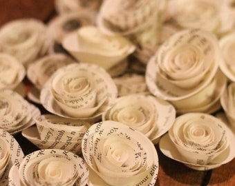 Book flowers etsy small book pages paper roses 40 book roses paper roses paper flowers book flowers wedding roses home decor roses mightylinksfo