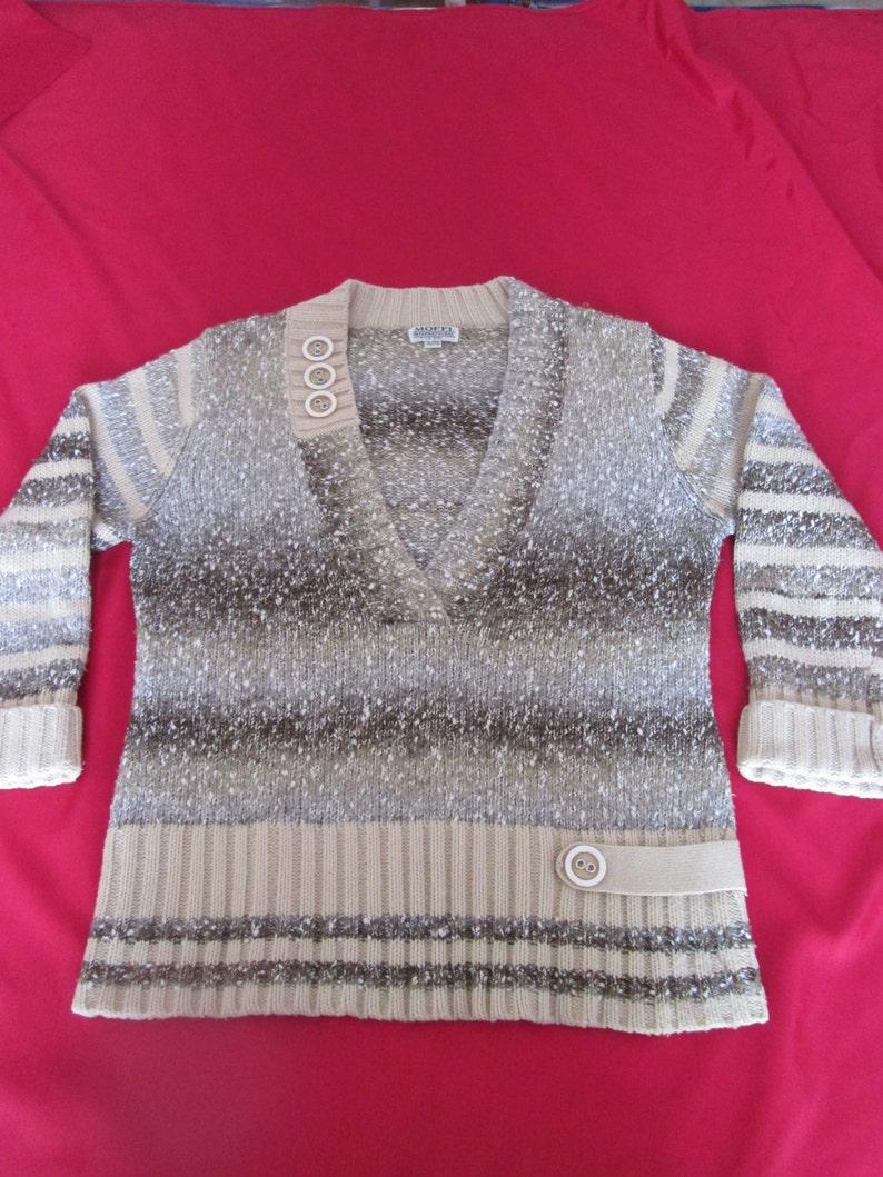 FREE SHIPPING Women/'s Sweater Moffi International   Vintage Chandail pour femme