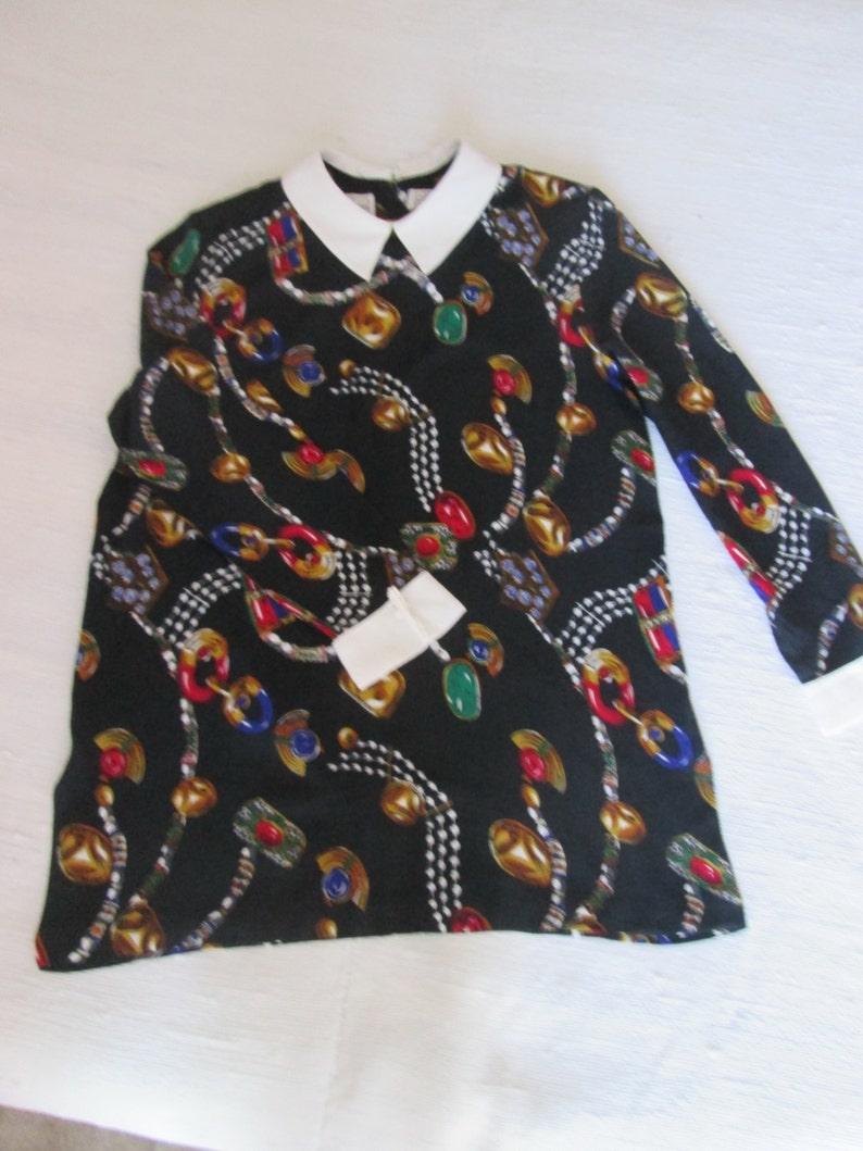 Black tunic for vintage women  vintage black tunic for woman