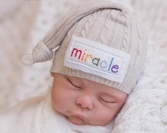 e4709c31bb9 Rainbow baby hat