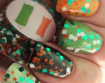 Irish Flag Nail Polish