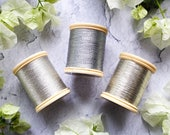DMC Silver Thread | Silver Metallic Thread | Pack of 2 | DMC Vintage Spool Thread | Embroidery Cross Stitch Needlework Thread Spool