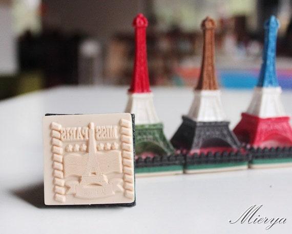 1 Piece Paris Eiffel Tower Stamp - Resin Stamp - Rubber Stamp - Postmark Stamp - Diary Stamp - Miss Paris