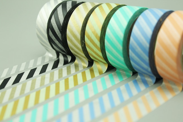 7 Rolls Washi Tapes - Japanese Washi Tape - Masking Tape - Deco Tape - Filofax - Gift Wrapping - NMTS035