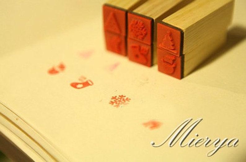Korean Stamp Rubber Stamp Deco Stamp 6 pcs in-EM62516 Christmas Stamp Set