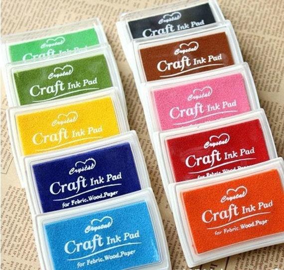 Craft Ink Pad Set Stamp 15 Pcs