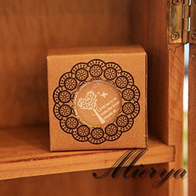 1 Piece High-Qualiy Lace Stamp - Rubber Stamp - Deco Stamp - Diary Stamp - Tree