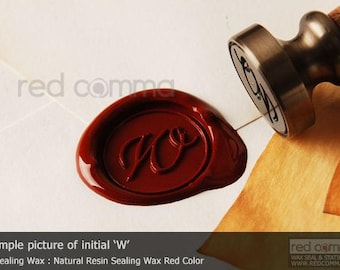 Calligraphic Initial Seal - Alphabet Sealing Wax Seal - Alphabet Stamp - 1 Piece