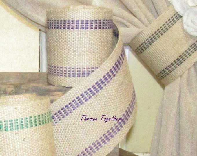 Jute Webbing, Purple Ribbon, Burlap Ribbon -1yrd- Purple Jute Webbing, Jute Ribbon Purple, Jute Webbing by the Yard
