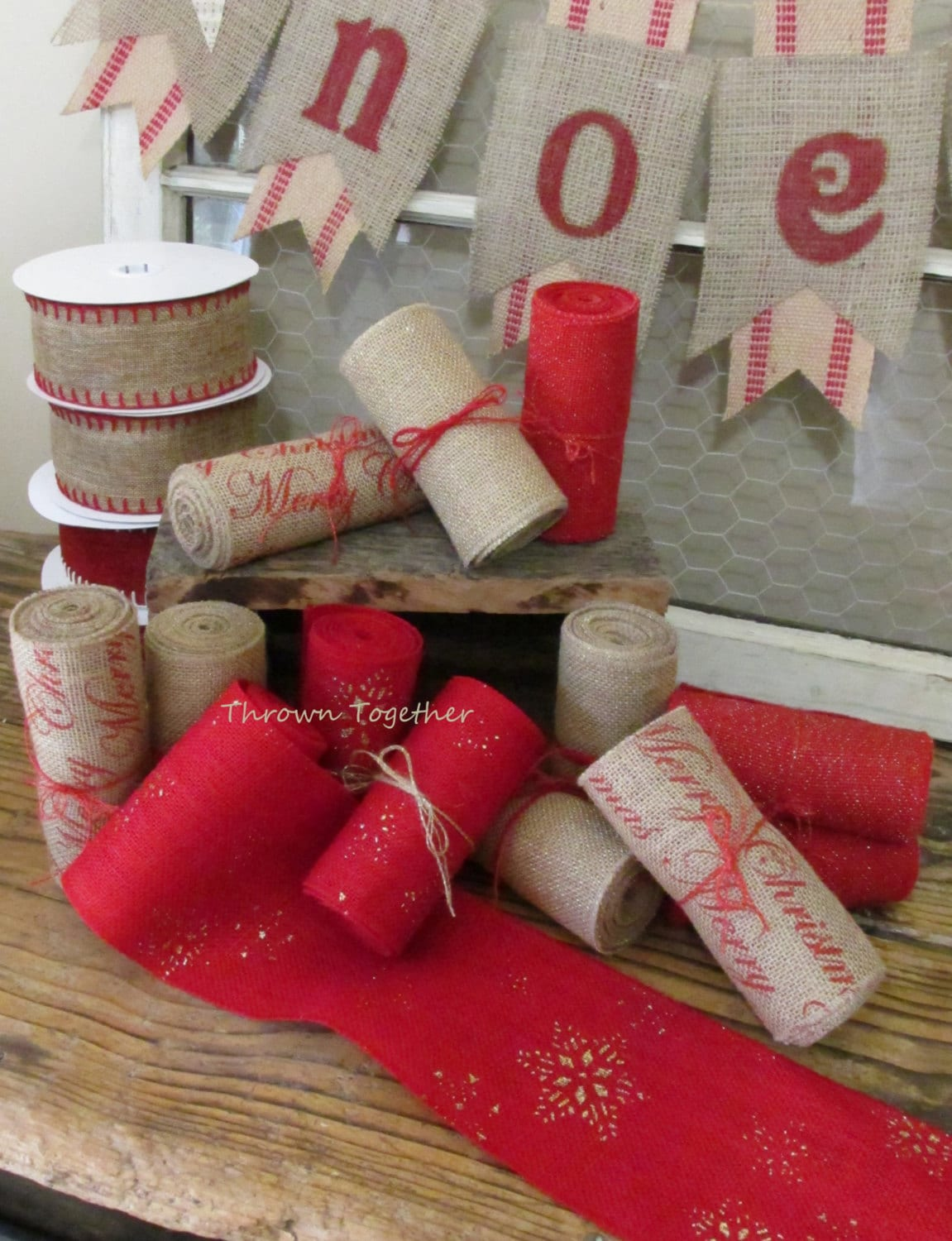 gallery photo gallery photo - Burlap Christmas Ribbon