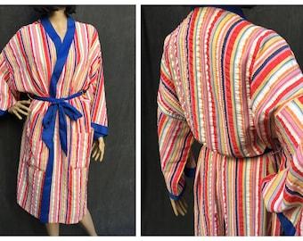 a0d8370269 60 s Kimono Robe Ohrbachs Seersucker Unisex Robe - One Size Fits All
