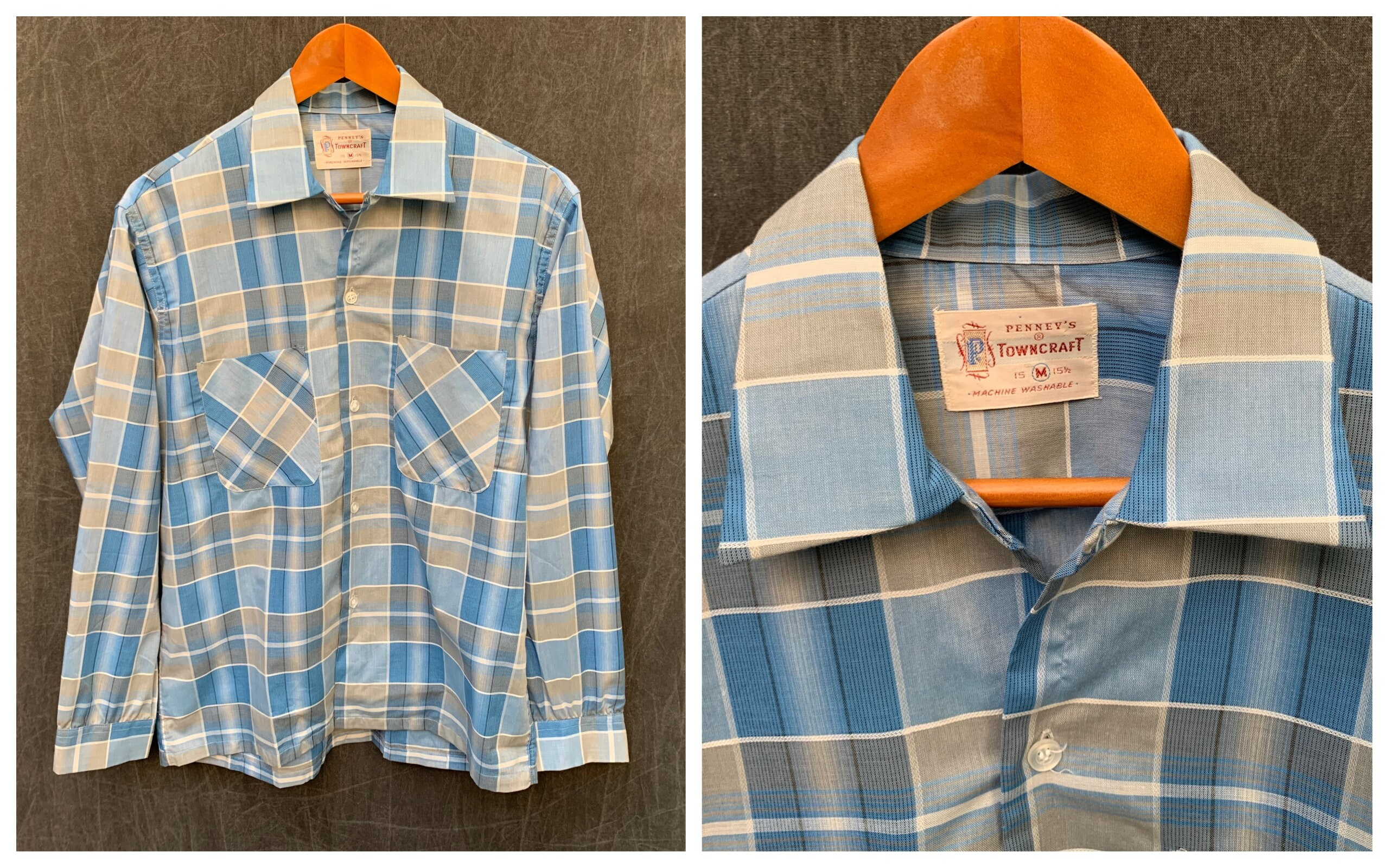 1960s – 70s Men's Ties | Skinny Ties, Slim Ties 60S Penneys Towncraft Mens Button Down Shirt Long Sleeve Plaid  Mens Size Medium 33 Neck 15-15 12 $44.00 AT vintagedancer.com