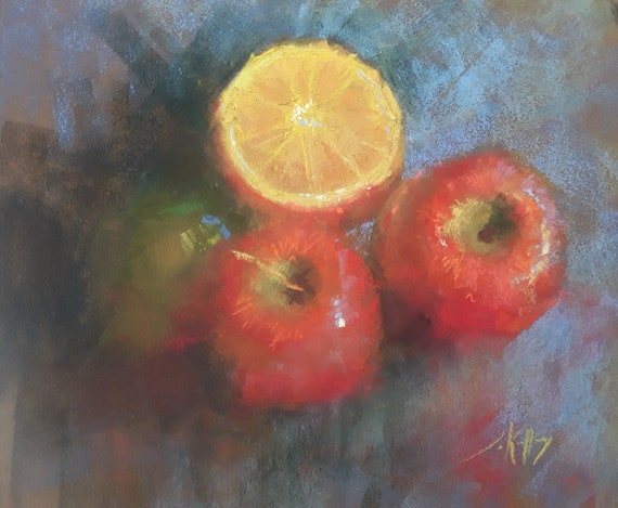 Summer Fruit -  11x12 - Pastel Painting - LIVE STREAM DEMO