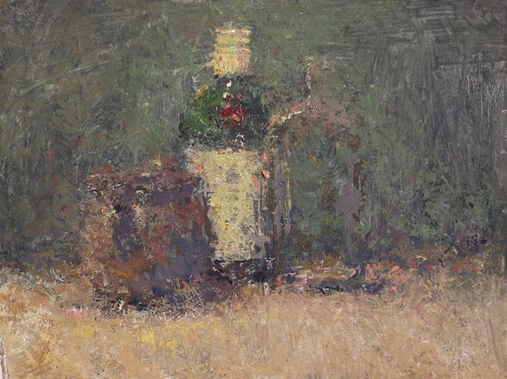 "Still Life , Original Oil Painting  , 9x12 , ""Tanqueray and Friends"" , by John Kelley"