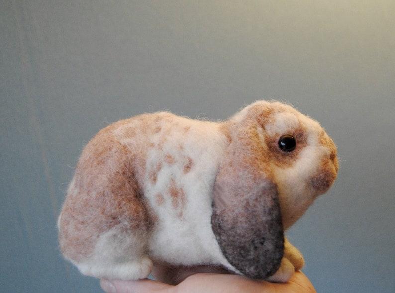 Custom Made Rabbit Portrait Needle Felted Bunny Lifelike image 0