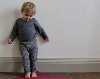 7bf7df5c66c9ce Bob Loves Yoga Kids' yoga leggings, pants cotton jersey | amne organic |  rainbow | baby and toddler trousers | activewear
