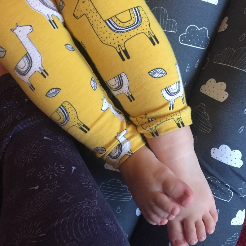 94c5e43609550d Bob Loves Yoga Kids' yoga leggings pants cotton jersey | Etsy