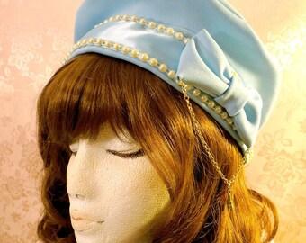 d94bef1aebcb0 Kawaii Lolita Beret Blue Sax Sweet Classic EGL Fashion