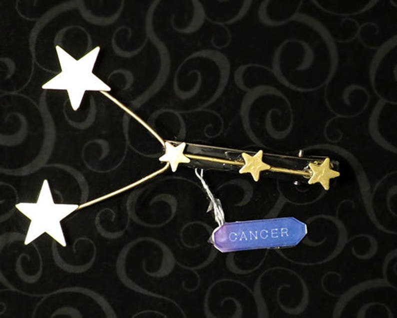 Constellation Star Hair Clip - Zodiac: Virgo, Capricorn, Leo, Taurus,  Pisces, Gemini, Sagittarius, Cancer, Aquarius