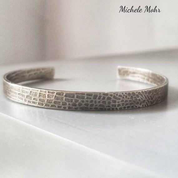 Snakeskin .925 Sterling Silver Cuff Bracelet