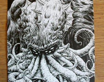 Cthulhu - A5 postcard print