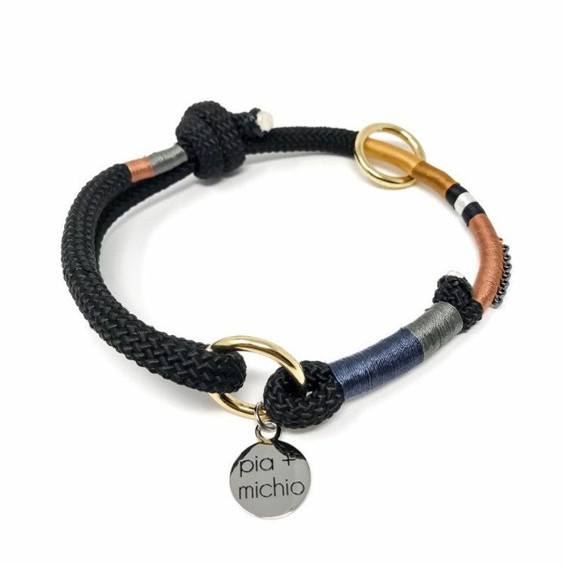 The Manhattan Dog Collar  Adjustable Rope Collar  City Dog image 0