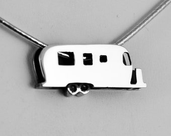Sterling Silver Iconic Travel Trailer by CGSilverworks