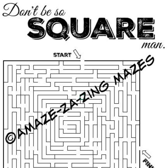 amaze-za-zing mazes - Square Maze - Extreme Maze for Adults & Kids