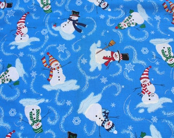 Festive Christmas Elf Fabric Material BY HALF METRE