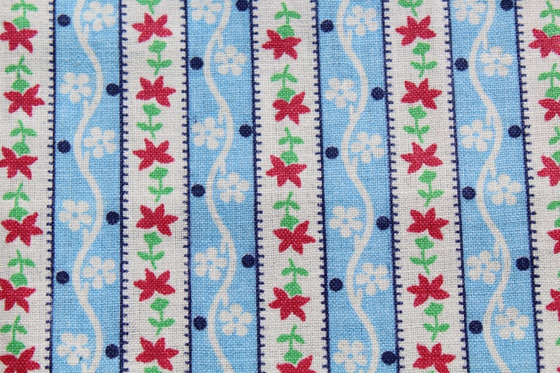 Cotton Quilt Fabric Brown Blue White Green BTHY