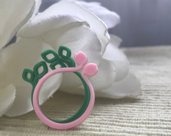 Read My Tulips, No More Winter 3D Printed Ring