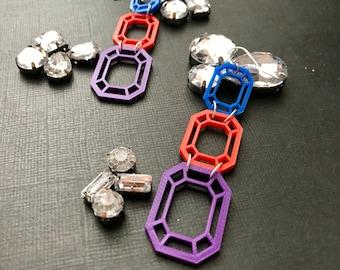 It's Raining Gems, Hallelujah! 3D Printed Earrings