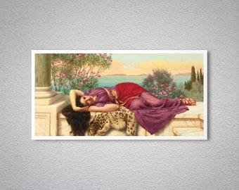 PR-033 Artistic Ephemera 8x10 Print ~ John William GODWARD ~ Dolce Far Niente