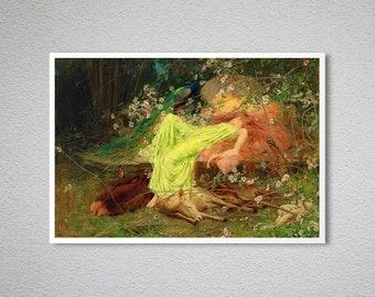 A Fairy Tale  by Arthur Wardle   Giclee Canvas Print Repro